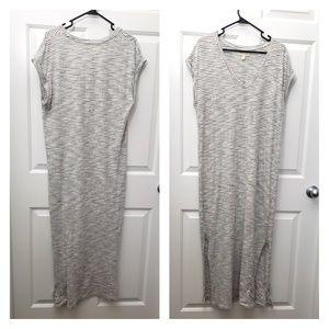 Cloth & atone long casual cotton dress L